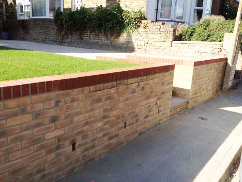 Garden Walls The Grass Master Ramsgate Kent Natural and